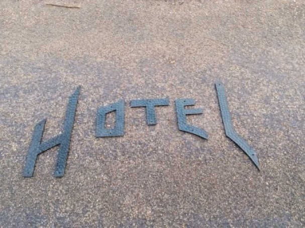 Ancienne enseigne d'hôtel