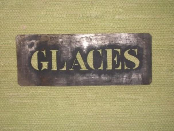 Pochoir pour glacier