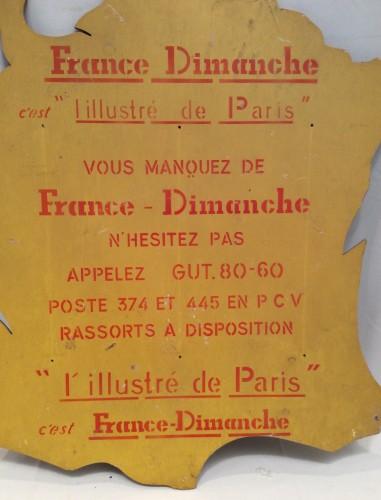 Ancien panneau publicitaire.(vendu)
