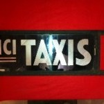 Ancienne enseigne de taxi
